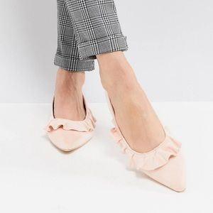 NWT Ruffled pointed toe flats from ASOS